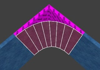 (Image curved corner 3d view)